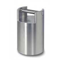 Class M1 Test weight, finely turned stainless steel, stackable